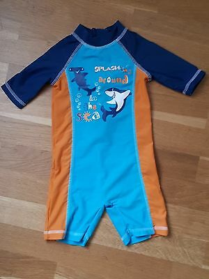 Lovely Baby Boy's MOTHERCARE UPF 40+ Swimsuit Age 6-9 Months