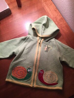 NWT Hanna Andersson Size 70 Baby Hooded Snail Jacket Fits 6-12 months 18m