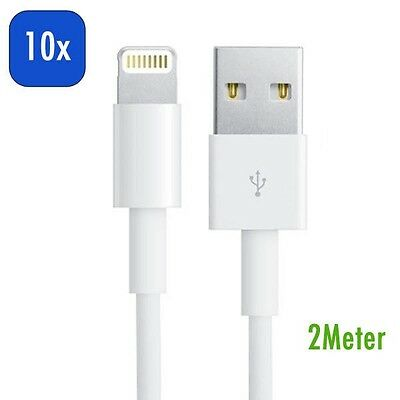 10x 2M Meter 8 Pin USB Cable Data Sync Charger Cord for iPad Pro Mini Mini 4