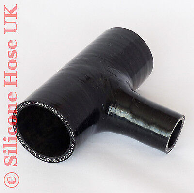 Silicone 38mm ID Tpiece Hose T-Piece Dump Valve Silicon Coolant Joiner - Black