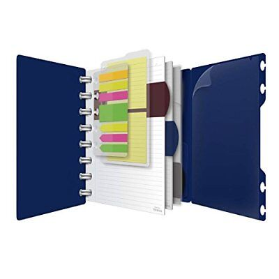 Versa Crossover Notebook, 6 x 9 Inch Size, Wide-Ruled, Navy, 60 Sheets (25-635)