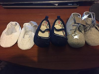 NEXT - Baby Shoes, Boots And Booties Newborn 0-3 Months And 6-12 Months - Bundle