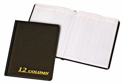 Account Book, 7 x 9.25 Inches, Black, 12-Columns, 80 Pages (ARB8012M)