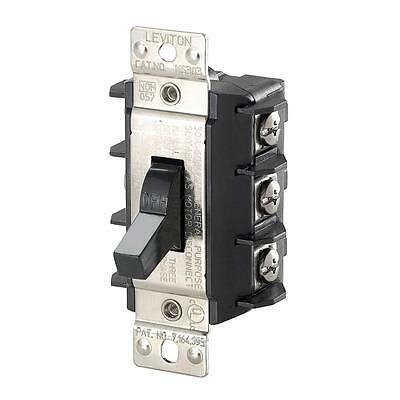 Leviton MS303-DS AC Motor Starter Switch 3-Pole Disconnect, Manual Toggle, 600V