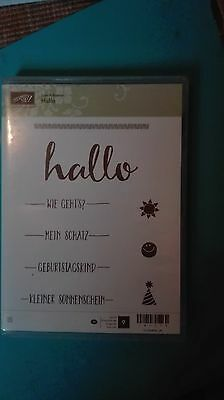 "Stampin Up Stempel ""Hallo"" Neu"
