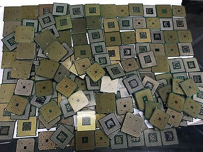 Lot of 7.20 lbs 245 CPU mix Processors Gold Scrap Recovery Pin Pinless