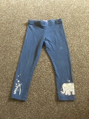 Gorgeous F&F Baby Girls Blue Leggings With Motif Age 2-3