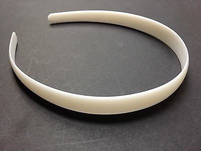 """Wholesale Lot 24 Girls or Womens 1/2"""" wide White Plastic Headbands Free US Ship"""