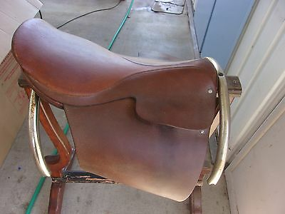 Vintage Leather English Riding Horse Saddle J.A. Barnsby & Sons ~ Equestrian