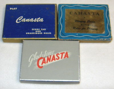Vintage CANASTA PLAYING CARDS With Rules  3 Complete Double Decks