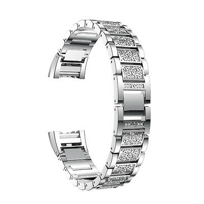 UK Fitbit Charge 2 Stainless Steel Bracelet Strap Replacement Watch Band Crystal