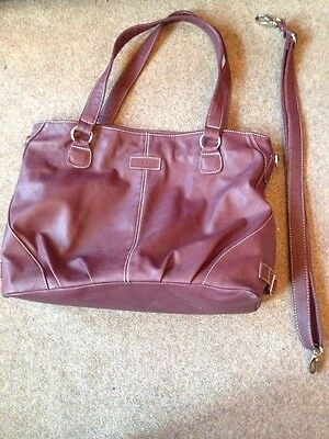 Mia Tui Emma Baby Changing Bag Berry Leather
