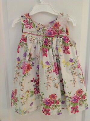 Baby Boden Girls Floral Summer Dress And Matching Knickers  Age 18-24 Months