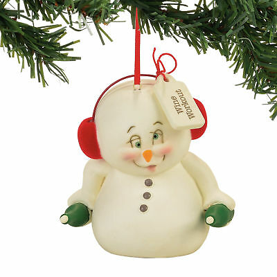 Department 56 H7 Christmas Snowpinions Wine Work Out Snowman Ornament 4057423