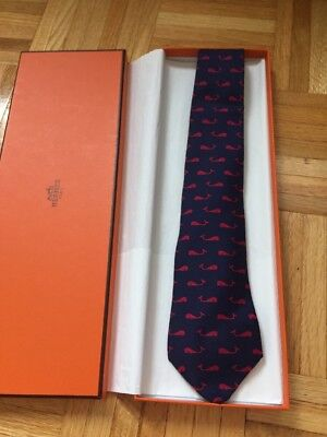 Brand New With Box Authentic Hermes Tie 100% Silk