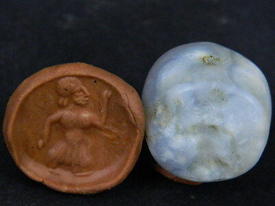 Ancient Agate Bead Seal/Stamp Near Eastern C.300 BC No Reserve #Ik819