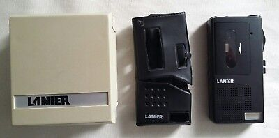 Lot of 3 Lanier P164 Micro Voice Recorder Lanier Micro Cassette Eraser and case