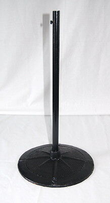 "HEAVY FLOOR WEATHER VANE STAND~20"" Black Cast Iron with N-S-E-W Compass Letters"