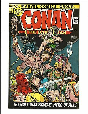 Conan The Barbarian # 12 (Gil Kane Cover, Barry Smith Art, July 1971), Fn/vf
