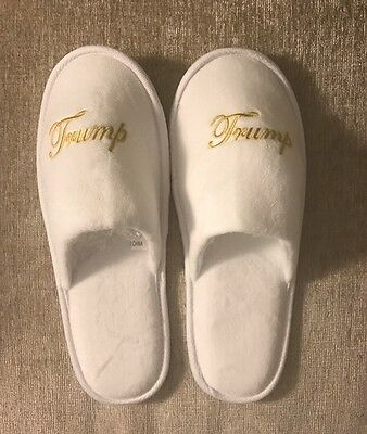 Trump Slippers with Pouch from Trump International Hotel Men or Women One Size