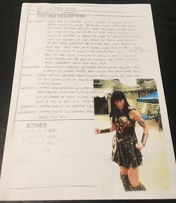 Xena Prop Costume Descriptions from the TV Series