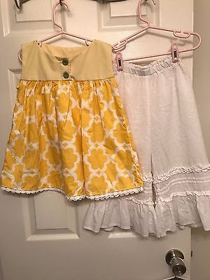 Persnickety 5yr Alpine Daisy Top and Pant set Good Used Condition