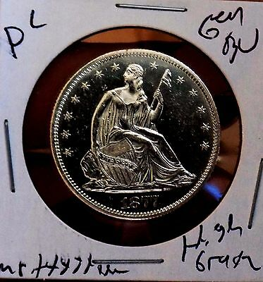 Seated Half 1877 S Ch Gem Bu PL Proof LIke Monster Satin White MS+++++++ RARE PQ