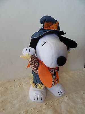 Animated Snoopy Dances Musical Turkey in the Straw Dog Scarecrow Harvest PEANUTS