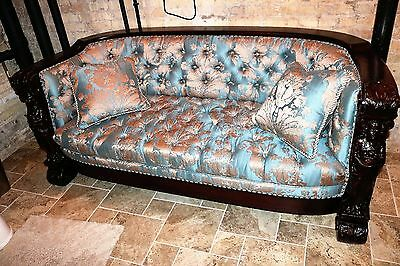 Karpen (Chicago IL.) Mahogany Carved Couch and Chair
