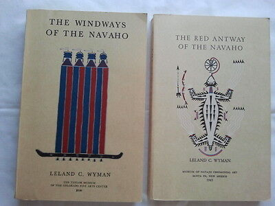 Leland C.Wyman: The Red Antway AND The Windways of the NAVAHO  1962 (2 books)