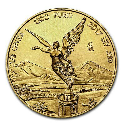 2017 Mexican Libertad 1/2 oz .999 Gold Round Bullion BU Coin - ONLY 600 MINTED!!