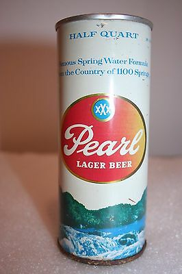 Pearl Lager 16 oz. SS pulltab beer can from St. Joseph, Missouri