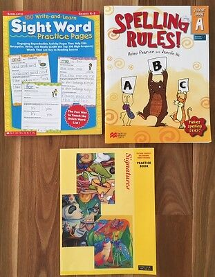 3 x Work Books teaching Reading, Spelling and early grammar for Grades K – 2