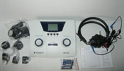 MAICO Audiometer  MA25 MA 25 Air Conduction Portable 8013738 & Carrying Case
