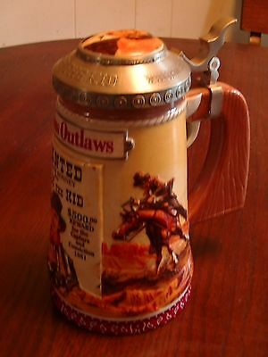 Famous Outlaws of the west series Billy the kid lidded beer stein