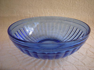 Vintage Hazel Atlas Aurora Cobalt Blue 5 1 /2  Inch Bowl Excellent Condition