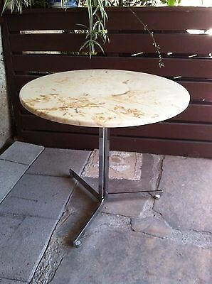 Stendig Chrome & Cultured Marble Occasional Table