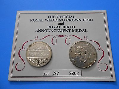 Official Royal Wedding Crown Coin & Royal Birth Announcement Medal Columbia Mint