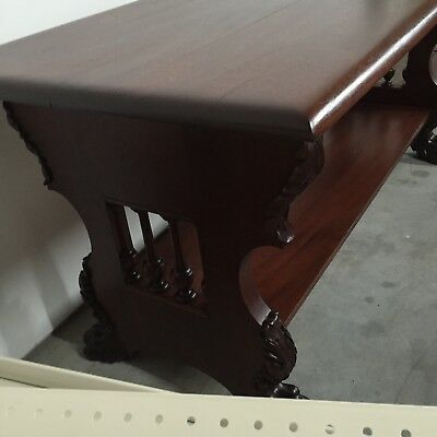 Mahogany Claw Foot Library Center Table