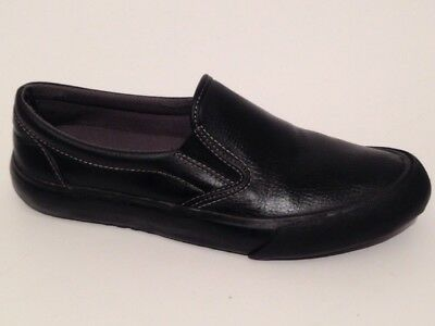 Womens Shoes For Crews Slip On Leather Loafers Black Style 4044 Ollie SZ 7.5