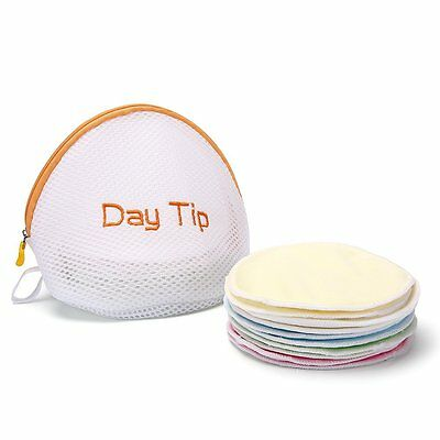 Day Tip Nursing Pads Washable and Reuseable w/Laundry Bag - 4 Pair (8 pads)
