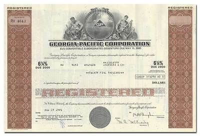 Georgia-Pacific Corporation Bond Certificate