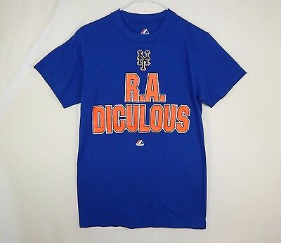 805c60150 NEW YORK METS R. A. Dickey MLB Baseball Majestic T Shirt Size SMALL ...