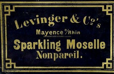 1870's-80's Sparkling Moselle Levinger & Co's, Mayence Wine Bottle Label F88