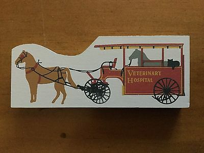 Cat's Meow Village 1990 Veterinary Hospital Wagon Accessories RETIRED