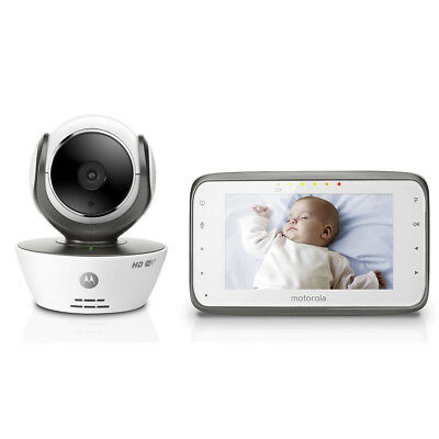 Motorola MBP854CONNECT Baby Monitor Digitale con Wi-Fi Internet Viewing - Bianco