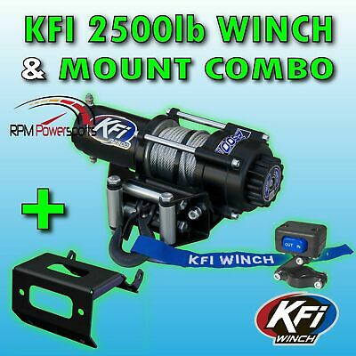 1000-5 3500lb Mad Dog Synthetic Winch//Mount for 2016-2019 Honda Pioneer 1000