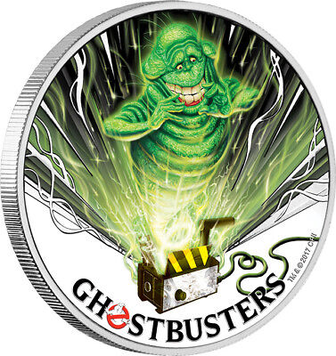 2017 Ghostbusters - Slimer 1oz Silver Coin