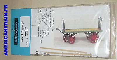 Chariot à bagages / Depot Baggage Wagon O/On3/On30 Banta Modelworks