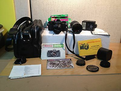 Pentax MV Vintage Camera and Accessories